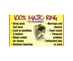 Magic Ring For Protection Business Boosting Love & Marriage Call +27782830887 Durban