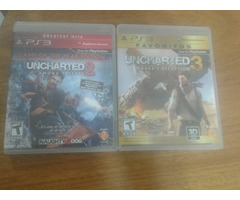 Uncharted 2 GOTY y 3 PS3 Usado En Buen Estado